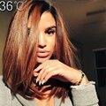 36 бразильский виргинский волосы короткие ломбер парик человеческих волос два тона Bob1B T # 30 ломбер перед парик человеческих волос для BlackWomen