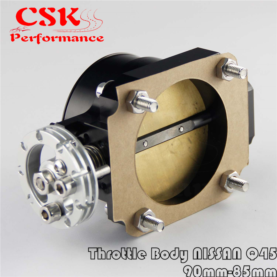 90MM-85mm Q45 Throttle Body <font><b>Intake</b></font> <font><b>Manifold</b></font> Fits For NISSAN <font><b>RB25DET</b></font> RB26DET RB20DT GTS Black image