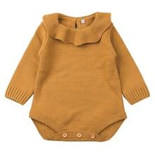 Топы для маленьких девочек; боди с длинными рукавами; милый повседневный комплект с комбинезоном; Одежда для новорожденных; одежда для маленьких девочек; трикотажная одежда