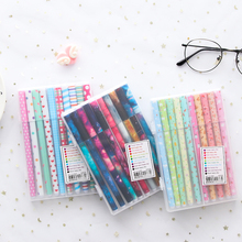 10 Pcs/Set gel pen ballpoint Cute Simple ball pens for school Color Writing Tool Stationery Supplies Kawaii