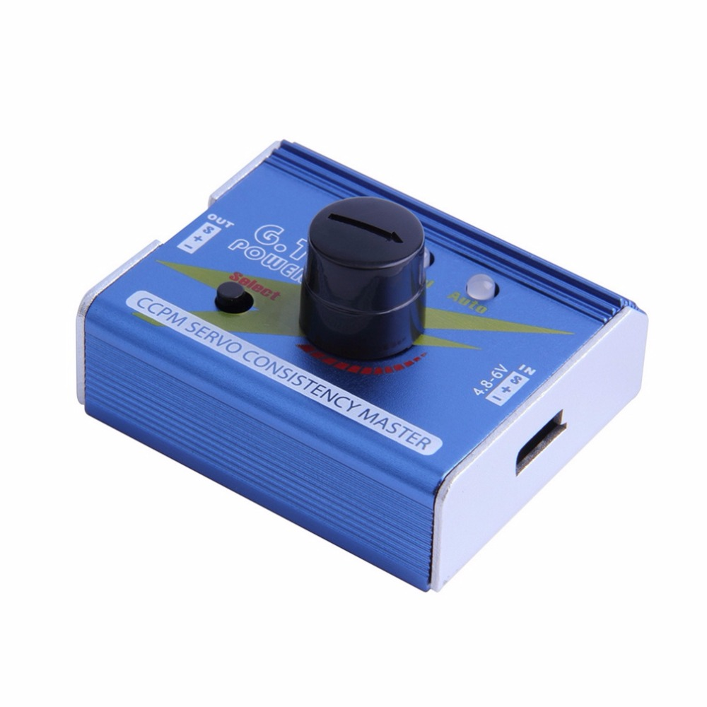 1 Pcs G.T. Power 3CH ESC Servo Tester CCPM Consistency Master Checker Tester Blue VZIP4012 Free Shipping hj 1 4s digital servo tester esc consistency tester for rc helicopter servo