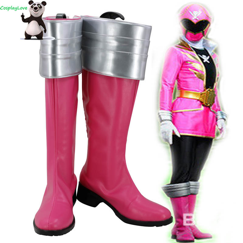 CosplayLove Super Sentai Cosplay kaizouku Red Sentai Gokaiger Ahim de Famille Cosplay Shoes Long Boots Custom Made