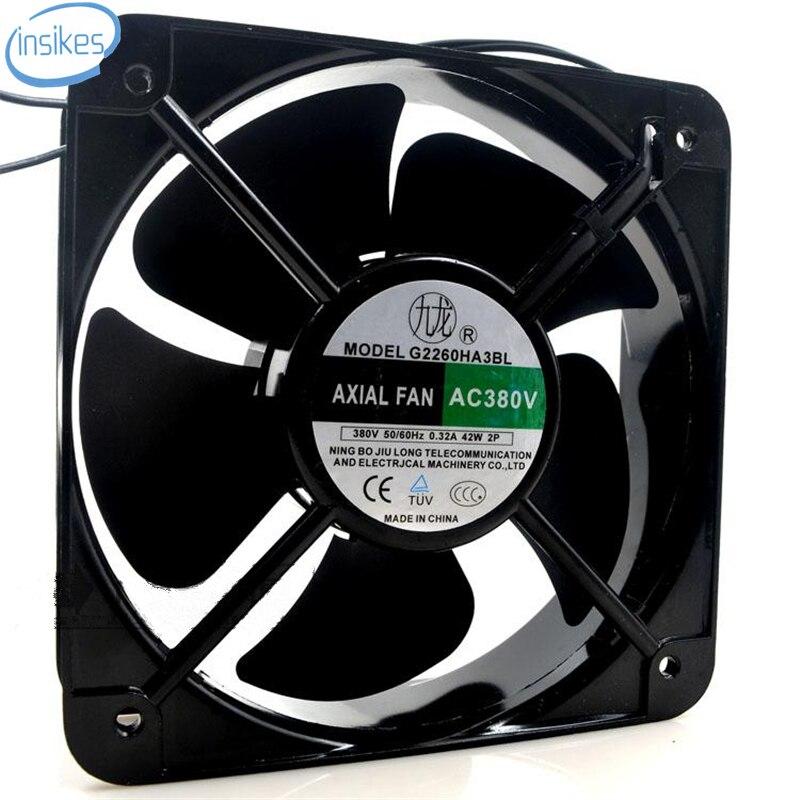 DHL Free G2260HA2BL AC 220V 0.32A 42W 20060 20cm 200*200*60mm 2 Wires Square Cooling Fan