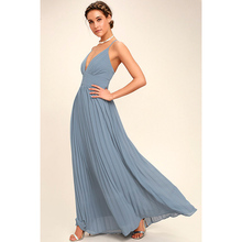 Summer Style Maxi Sexy Beach Dress 2017 Women Party Sleeveless Deep V neck Celebrity Runway long Pleated Dresses Vestidos