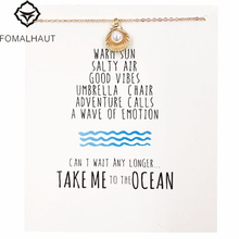 take me to the ocean shell necklace Pendant necklace Clavicle Chains Fashion Necklace Women FOMALHAUT Jewelry