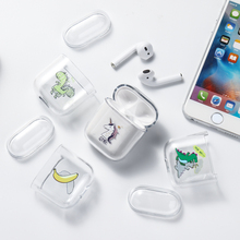 Case For Airpods Case Cute Hard Plastic DIY Patterned Transparent Cases Protective Cover Wireless Earphone стоимость