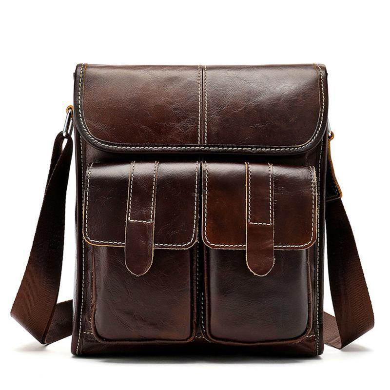 Fashion Messenger Bag Men Shoulder Bag Male Genuine Leather Men's Bags Man Small Flap Casual Crossbody Bags For Men Handbags