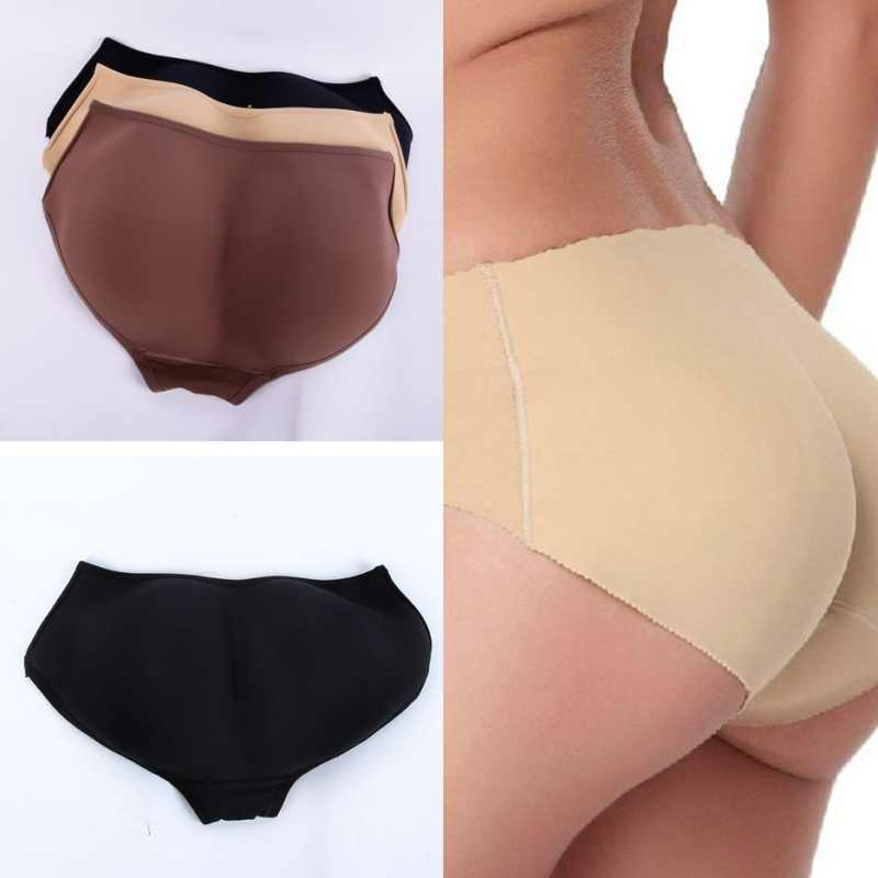 020fad0f355 Women Soft Seamless Sexy Enhancer Hip Up Briefs Panties Knickers Buttock  Backside Silicone Bum Padded Butt
