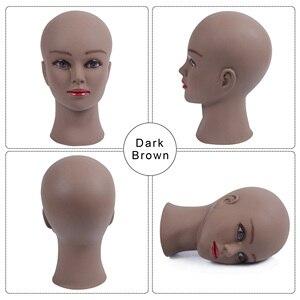 Image 4 - Cabeça de manequim para peruca, cabeça de manequim para peruca, cílios, joias, máscara de massagem para venda suporte