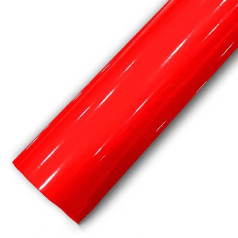 Résistant aux UV brillant rouge autocollant décor décalcomanie 30*150CM vinyle enveloppe Air bulle libre imperméable à l'eau Anti-encrassement pratique