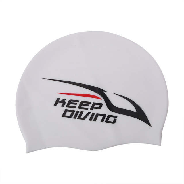 6fc7ff5b6c6 placeholder KEEP DIVING Flexible Silicone Swimming Cap Waterproof Ear  Protection Swimwear Bathing Cap Swimming Cap Hat For