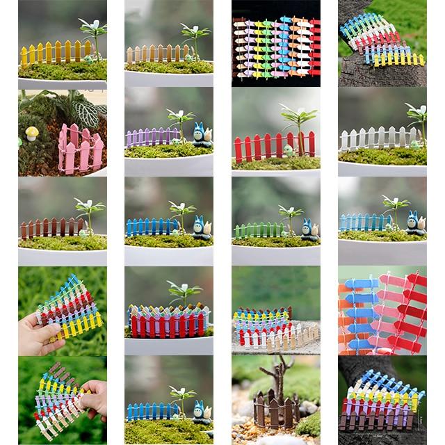 Diy Holz Zaun Palisade Miniatur Fee Garten Häuser Dekoration Mini
