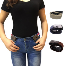 Buckle-Free Elastic Belt No Buckle Stretch Waist Belts for Jean Pants Dresses Women Men No Bulge Hassle Waist Belt Drop Shipping(China)