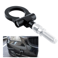 New Black Racing Screw In Front Rear Euro Type Towing Hook Aluminum For BMW X3 Mini