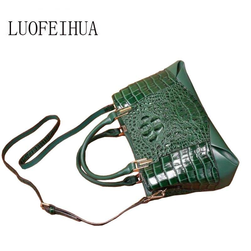 En Luofeihua Sac red green Cuir De Femelle Nouveau blue Modèle Black Marque Vent National Mode À Main 2019 Femme Crocodile 0r0q1xB