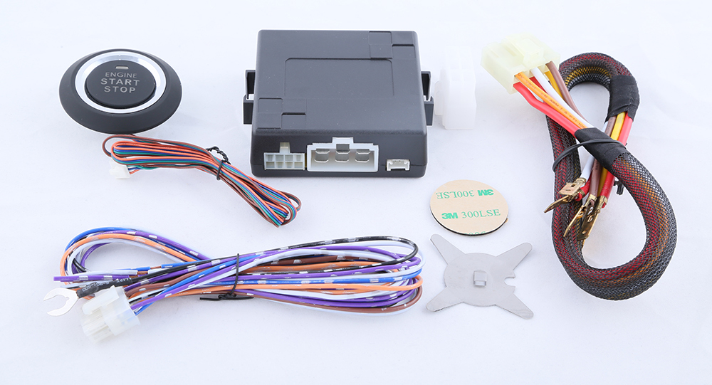 Universal  push button engine start module DC12V manual gear /& automatic gear