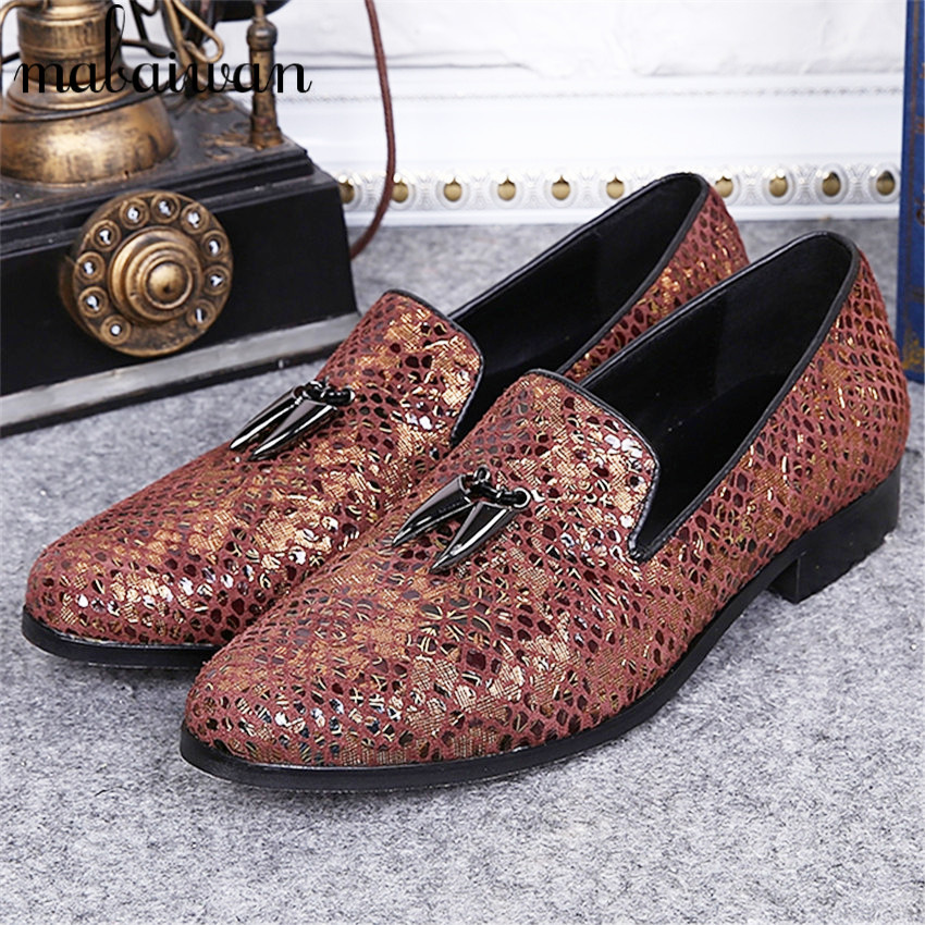 Mixed Color Print Leather Men Flat Shoes Chaussure Homme Fashion Loafers Casual Flats Pointed Toe Party Dress Shoes Espadrilles pointed toe tassel leather shoes men slip on brogue shoes flats british style rivet shoes casual loafers chaussure homme 022