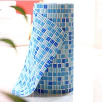 Mosaic kitchen mat PVC hollow out absorb water foam bath mat skid pad household entrance foyer thick carpets