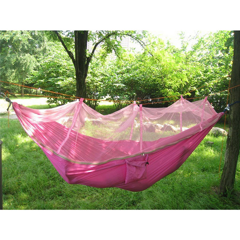 1 Set Double Hammock Tree 2 People Person Patio Bed Swing Outdoor With  Mosquito Net Good