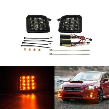 Direct Fits For Subaru WRX / WRX STI 2015-2018 Front Led Turn Signal Lights Amber Corner Lamp Clear Smoke Lens