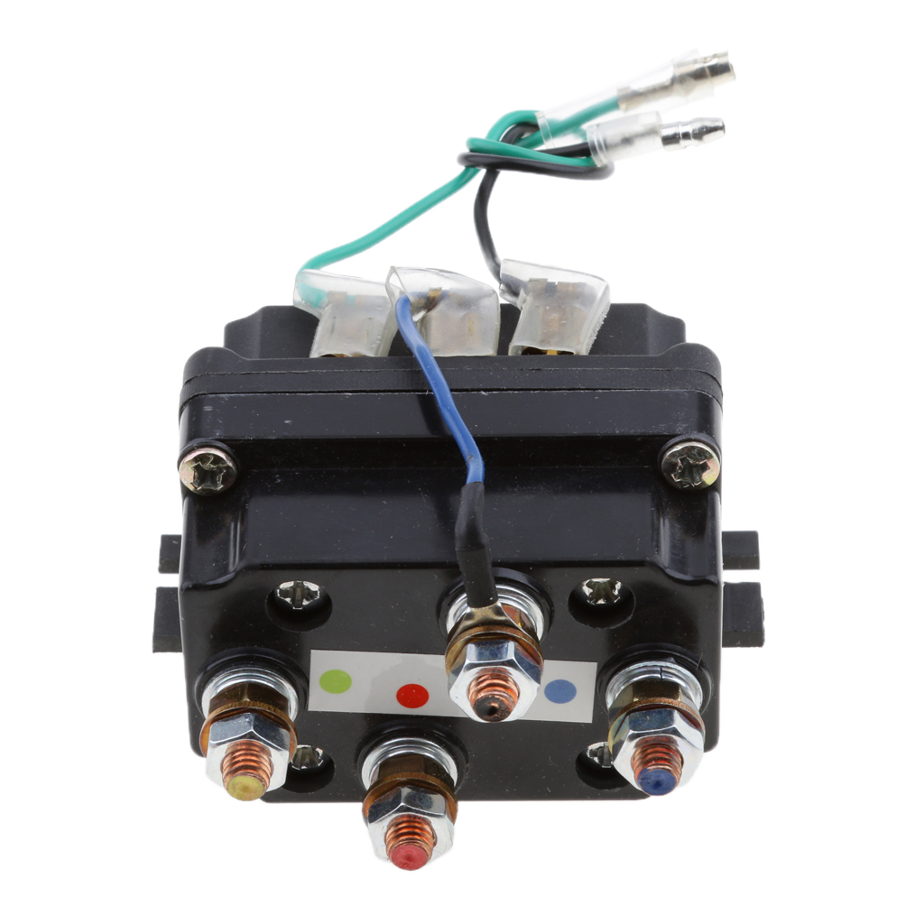 Image 5 - 12V Sealed  Electronic Winch Relay Contactor Solenoid Universal Part for ATV UTV Truck Car Auto Black 80mm*7.5mm*40.5mm-in ATV Parts & Accessories from Automobiles & Motorcycles