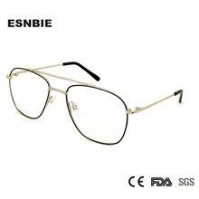 ESNBIE High Quality Male Frame For Glasses Metal Men Pilot Sight Eyewear Mens Accessories Oculos De Grau