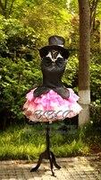 Аниме! Saint хвост haneoka meimi настроить Размеры форма Косплэй костюм шляпа + Перчатки + волосы платье Бесплатная доставка