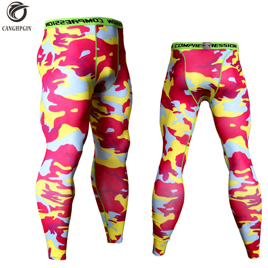 fb4dc3bb51a63 Camouflage Mens Compression Tights Sports Running Pants Men Soccer Training  Pant Jogging Leggings Men Gym Sport Dry Fit Trousers