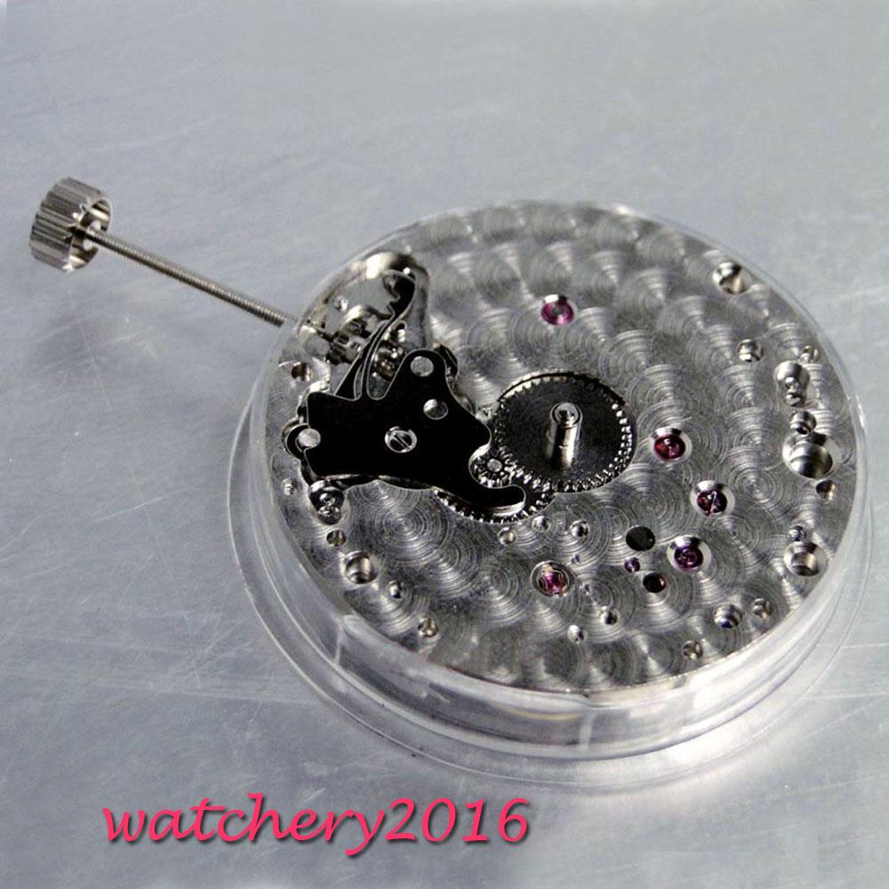 17 klejnoty 6497 łabędzia szyja vitage ręcznie nakręcany mechaniczne zegarek męski ruch w Tarcze do zegarków od Zegarki na  Grupa 2