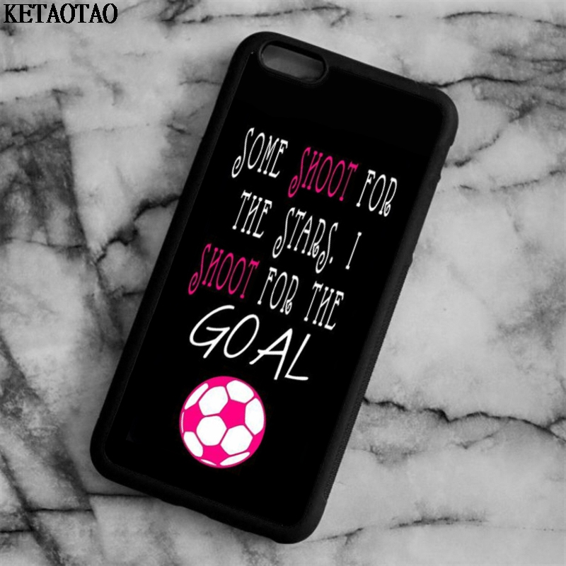 KETAOTAO Soccer Girl Pink Futbol Ball Phone Cases for iPhone 4S 5C 5S 6 6S 7 8 Plus X for Samsung Case Soft TPU Rubber Silicone