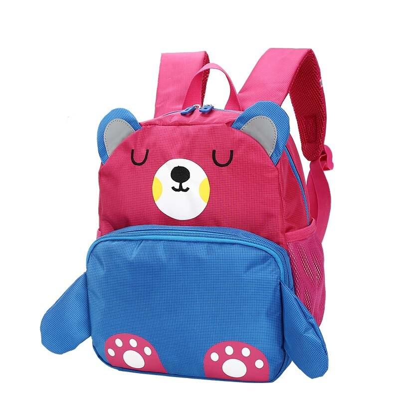 Crianças dos Desenhos Bonito Kid 3d Backpack Alunos