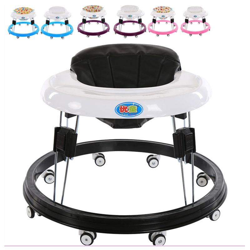 купить Factory Price Baby Walker with Wheels Infant Child Learning Walkers Anti Runover Functional Walking Assistant Walk Aid 0~18 M по цене 5393.56 рублей