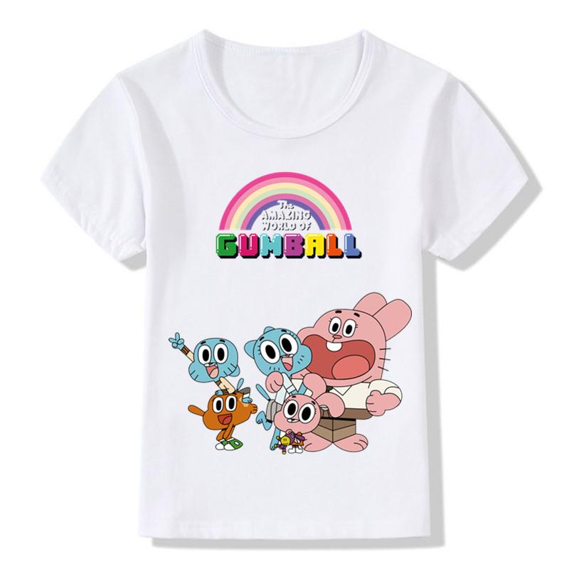 f6645de3bbf0e Enfants le monde incroyable de Gumball Cartoon drôle t shirt garçons ...