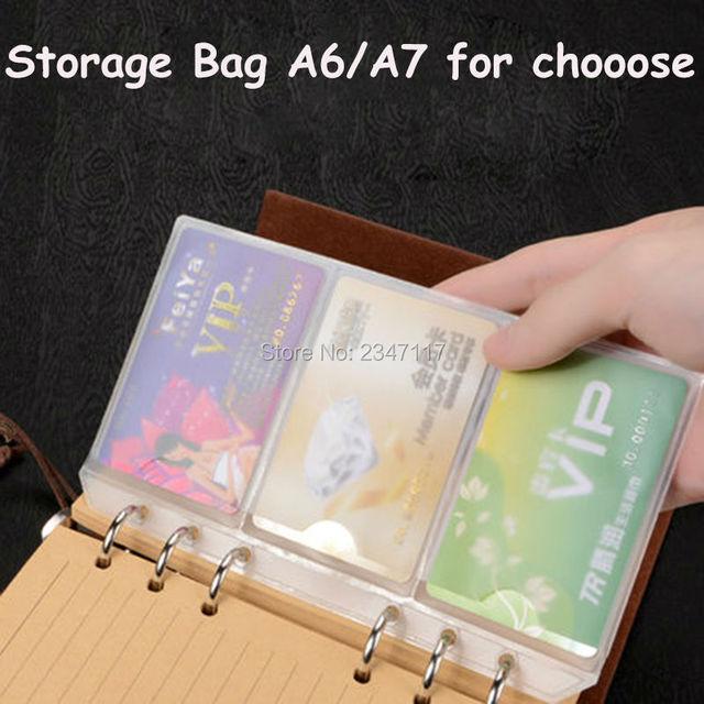 Office supplya6a7 transparent loose leaf business card bag with office supplya6a7 transparent loose leaf business card bag with zipper 10 pcs zipper bag colourmoves