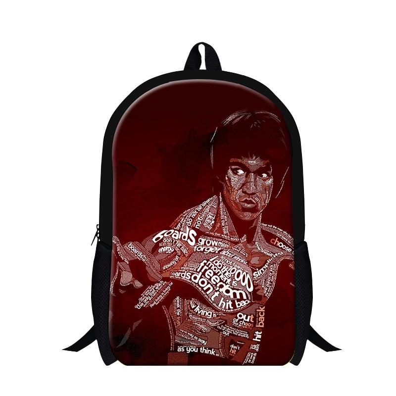 New Design Bruce Lee 3D Print Mens Double shoulder Backpack School Children  Travelling Bag Men s Backpacks Kids School Bags-in Backpacks from Luggage    Bags ... 3cb65efe8d216