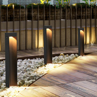 Thrisdar 40/60CM Nordic Garden Pillar Lawn Lamp Outdoor Waterproof Landscape Villa Park Courtyard Engineering Bollards Light
