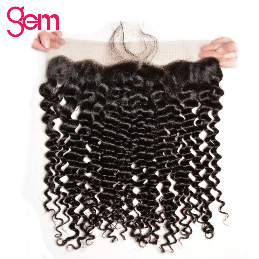 Peruvian Hair Deep Wave Lace Frontal Closure 13x4 Ear To Ear Lace Frontal With Baby Hair