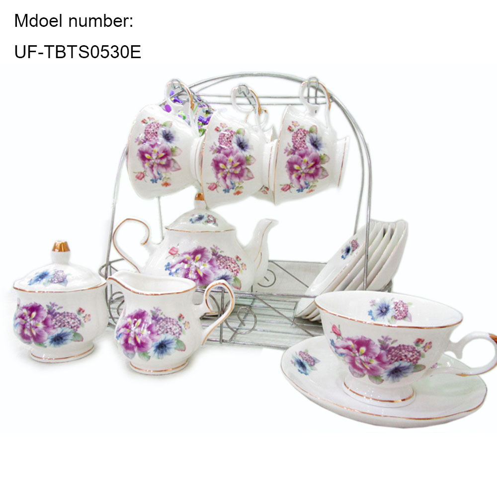 european style bone china coffee sets peony printed ceramic coffee  - european style bone china coffee sets peony printed ceramic coffee mugsporcelain tea cup set with lid cups and saucers teapotin coffee  tea setsfrom