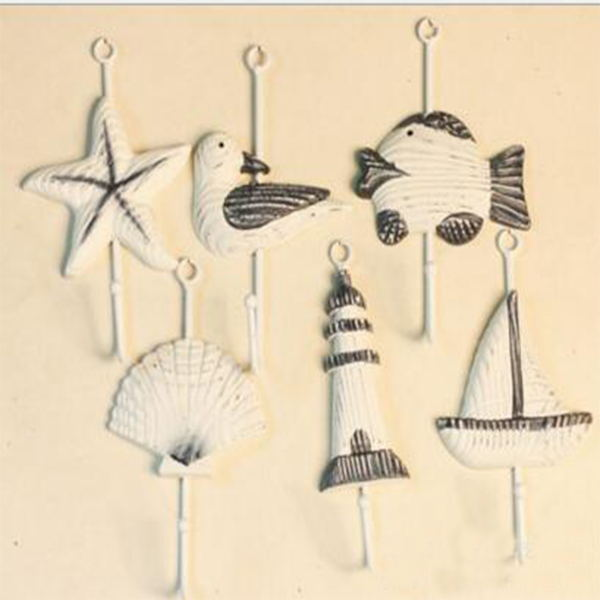 <font><b>Italian</b></font> Sailing Boat Starfish Beacon <font><b>Home</b></font> <font><b>Decor</b></font> Bathroom Wall Hanger Hook