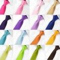 Горячая распродажа мода галстук 24 стиль шелковые галстуки для мужчин сплошной цвет знаменитости тонкий мужские шеи тощий Tie 5 см мужские аксессуары