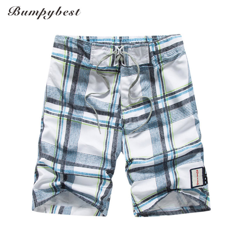 Brand Beach   shorts   men plaid   shorts   men classic checks   board     shorts   men swimwear   shorts   quick drying summer embroidery letters