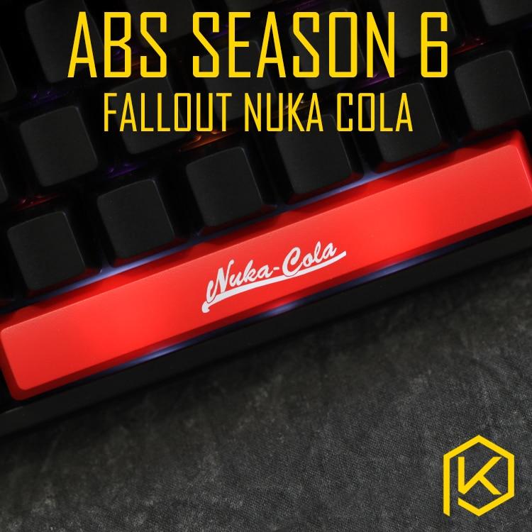 Mechanical-Keyboards Cola Fallout Nuka Shine-Through-Keycaps Novelty Spacebar Custom