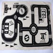 2018 játék matrac Baby játékok Közúti nyomtatott szőnyeg Mopszok Pamut poliészter Rawing mat gyerekek Játék vonat pálya Mats 0-6 év bady g38