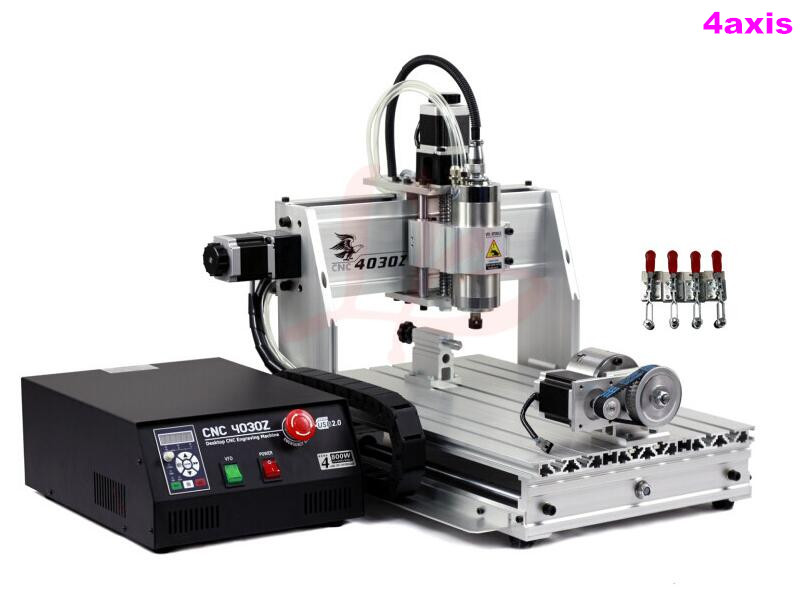 No tax to RUSSIA 4 axis cnc 3040 USB 800W router with USB port water cool spindle motor russia tax fre cnc mill usb port 4 axis rotary aixs 3040 mini cnc milling machine 1500w spindle with water tank spray
