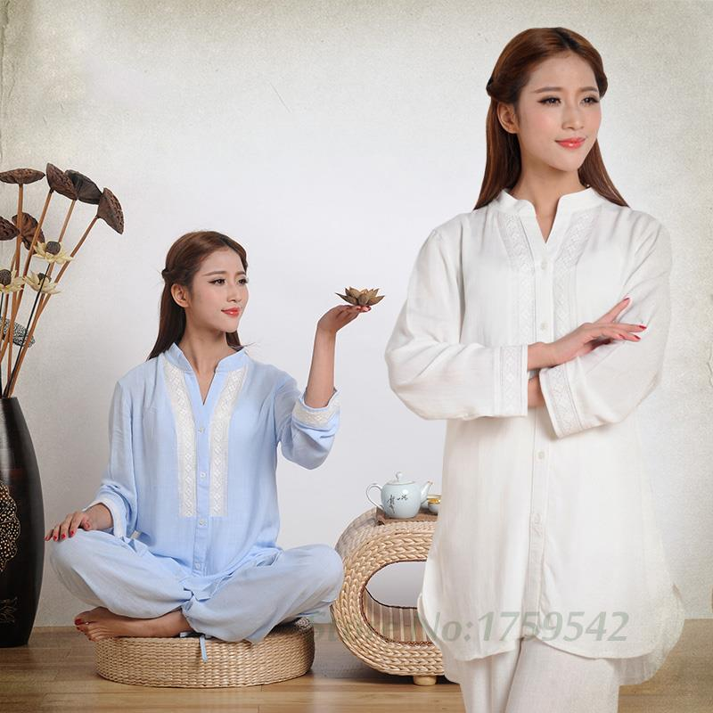 Cotton Yoga Suits Female Yoga Yoga Wear Loose New Spring and Summer Clothing Clothing Female Buddhist Meditation Tea brand 2016 spring summer yoga clothing set cotton linen meditation clothes high quality women buddhist set sports suits kk395 20