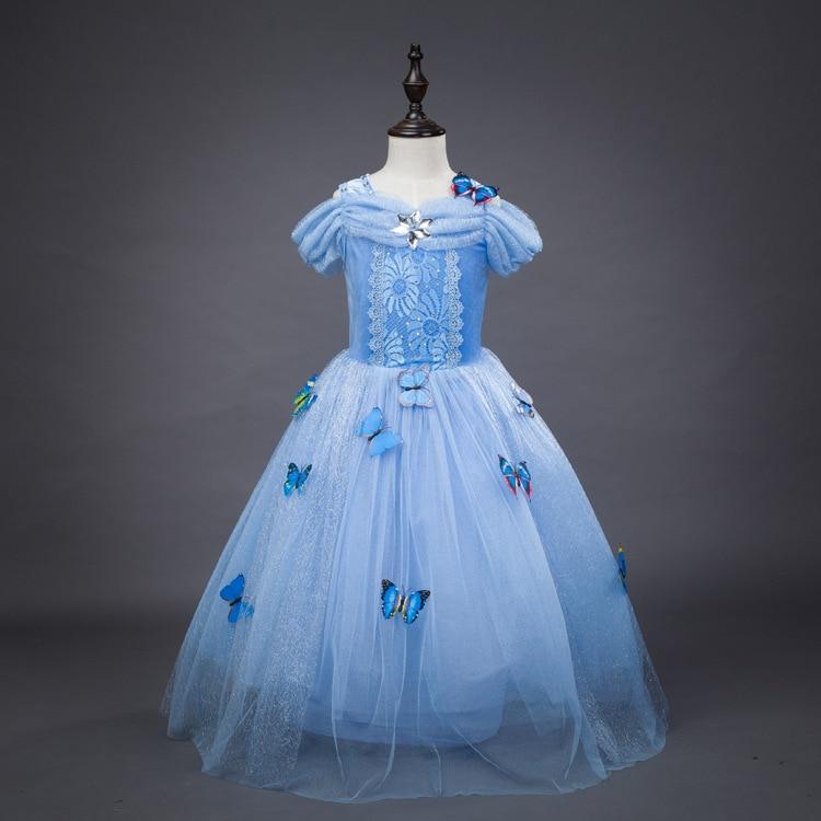 Halloween ball gowns princess costumes for girls dream blue cinderella dress чайник saturn st ek0011