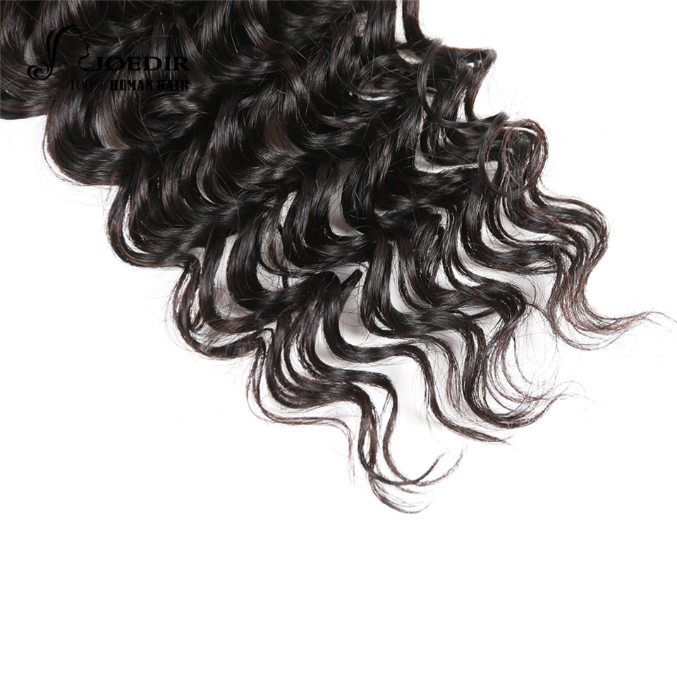 Joedir Human Hair Bundles With Closure Peruvian Deep Wave 3 Bundles With Closure Non Remy Hair Free Part Free Shipping