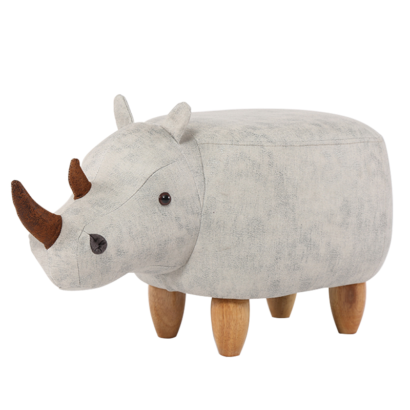 купить Creative shoes bench rhinoceros storage solid wood footstool designer furniture sofa stool storage fashion shoes low stool недорого