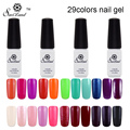 Saviland 1pcs Soak Off  UV Gel Polish 29 Colors Nail Art for Nail Manicure Top and Base Coat UV&LED Gel Nail