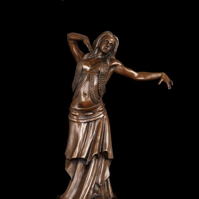 ca2c5c056 Arte e Mestieri di Rame Villa Decorazione bronzo art statua danzatori  indiani dancing girl figurine handmade